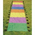 FIRST LOISIRS Parachute chenille en polyerster multicolore, L8 m x P1 m, 34 poignées, livré dans un sac