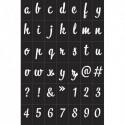 GRAINE CREATIVE Pochoirs Alphabétique Noir en vynile souple, adhésifs, repositionnables, pour textiles…
