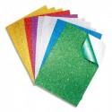 SODERTEX Sachet de 10 Feuilles en mousse EVA pailletée adhésive A4, épaisseur 2 mm, 6 coloris Assortis