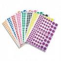 APLI Pochette de 18 planches de Gommettes rondes, tailles et couleurs assorties