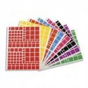 APLI Pochette de 18 planches de Gommettes carrés, tailles et couleurs assorties