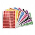 APLI Pochette de 18 planches de Gommettes rectangles, tailles et couleurs assorties