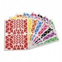 APLI Pochette de 18 planches de Gommettes triangles, tailles et couleurs assorties