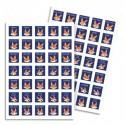 MAILDOR Sachet de 20 planches de Bon points Renards, soit 700 stickers - Format : 14,8 x 21 cm