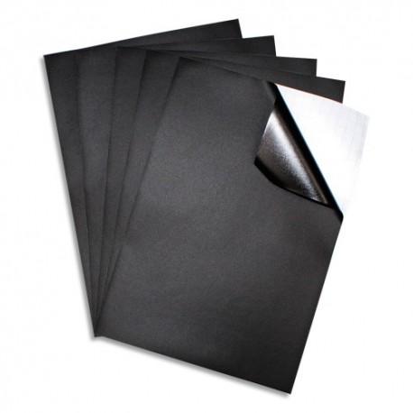 SODERTEX Sachet de 5 Feuilles Ardoise adhésive Noire - Format A4