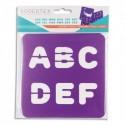 SODERTEX Pack de 6 Pochoirs Chiffres et Lettres Assortis en plastique - L14 x H14 cm, épaisseur 5 mm