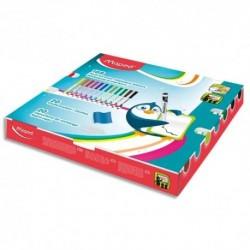 MAPED Schoopack FEAS Marker peps : 168 feutres + chiffonettes + capuchons de rechange. 12 couleurs