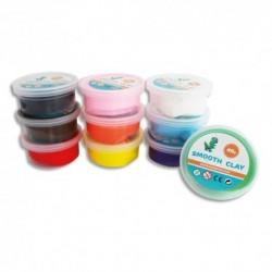 SODERTEX Pack de 10 Pâte à modeler autodurcissante Smooth Clay 40g coloris assortis