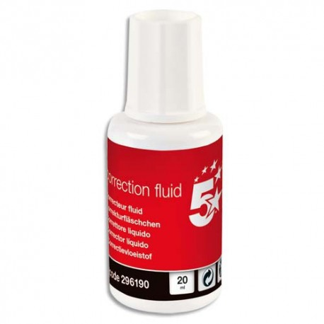 Correcteur flacon de correction fluide avec pinceau de 20 ml Eco 5*