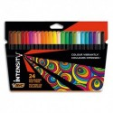BIC Pochette de 24 crayons de couleurs INTENSITY UP assortis, corps triangulaire