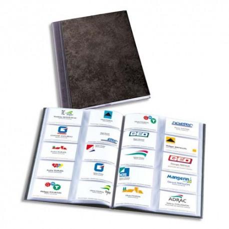 ELBA Album Elgance Noir Capacit 400 Cartes De Visite En PVC Expans Format A4 L23 X
