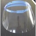 Visière protection Polycarbonate avec serre tête réglable. Dimensions 31,5X19,5cm