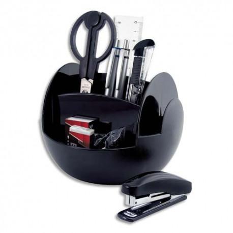 PAVO Pot multifonctions rotatif noir, 6 cases, livré avec 9 produits - Diamètre 15 cm, hauteur 11 cm