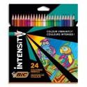 BIC Pochette de 24 crayons de coloriage INTENSITY UP assortis