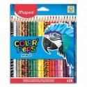 MAPED Pochette 24 crayons de couleur décorés ANIMALS COLORPEP'S assortis