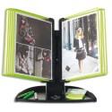 TARIFOLD Pupitre Flashy Black Line 10 poches A4 vert - Dimensions L49 x H43,5 x P25 cm