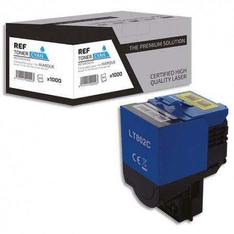 PSN Cartouche compatible laser cyan Lexmark 80C2SC0, L1-LT802C
