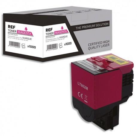 PSN Cartouche compatible laser magenta Lexmark 80C2SM0, L1-LT802M