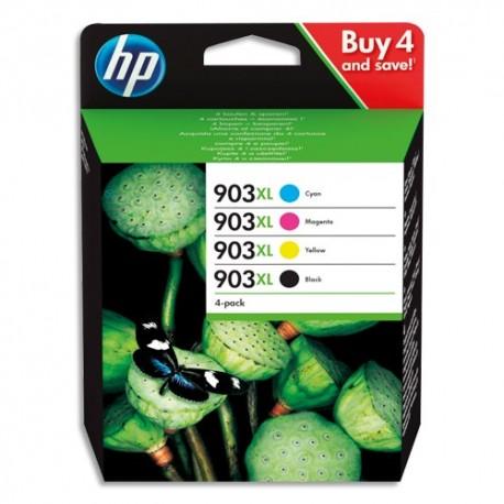 HP Pack 4 couleurs Jet d'encre 903XL Cyan Magenta Jaune Noir 3HZ51AE