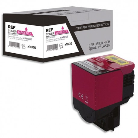 PSN Cartouche compatible laser magenta Lexmark 80C2XM0, L1-LT802XXM