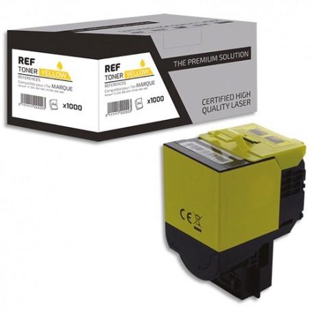 PSN Cartouche compatible laser jaune Lexmark 80C2XY0, L1-LT802XXY