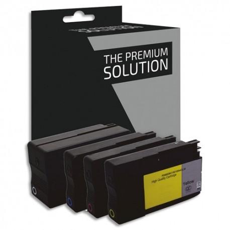 PSN P/4 Cartouche compatible jet d'encre NCMJ HP CN053AE/CN054AE/CN055AE/CN056AE, B8H93XLB/CLR