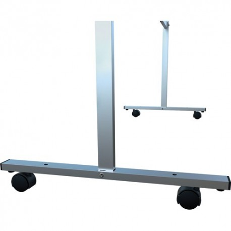NOBO Set de 4 roues noires pour séparateur film en PVC - Diamètre 5 cm, profondeur 3 cm