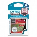 DYMO Ruban D1 Durable 12mmx3m Blanc sur rouge 1978366