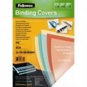 FELLOWES Boîte de 100 plats de couvertures PVC 200 microns A4 bleu 5377101