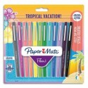 PAPERMATE Blister 12 FLAIR TROPICAL assortis