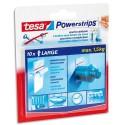 TESA Boîte de 10 Power Strip supporte jusqu'à 2 kg