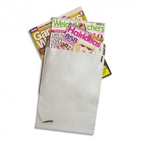 KEEPSAFE Boîte de 100 Pochettes en polyéthylène Léger - Format C3 33,5 x 43 cm blanches