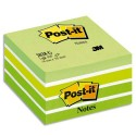 Bloc cube Post-it de 450 feuilles aquarelle 7,6 x 7,6 cm coloris vert
