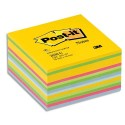 Bloc cube Post-it de 450 feuilles déco 7,6 x 7,6 cm jaune ultra/multi couleur BP (3362030-U)