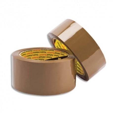 Ruban adhésif d'emballage Scotch Polypropylène 48 microns - Dimensions : H50 mm x 66 mètres havane