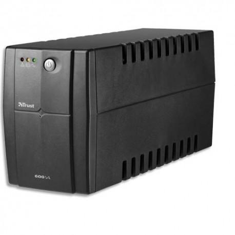 TRUST Onduleur ASI 600VA avec batterie de réserve+2 prises alimentation contre la surtension 17681