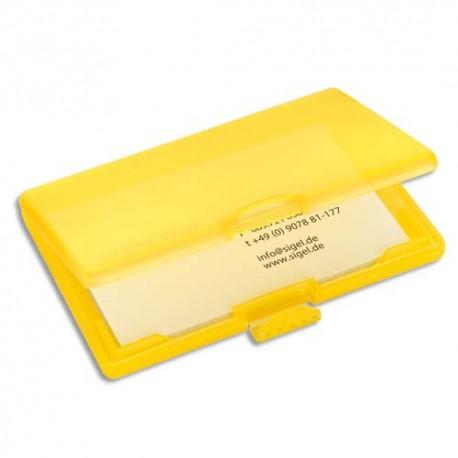 SIGEL Etui à cartes COOLORI avec clip de fermeture PP, capacité 25 cartes - L106 x H74 x P17 cm jaune