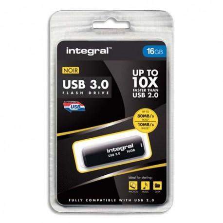 Clé USB 16Go 3.0 coloris noir + redevance Intégral