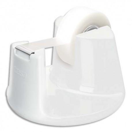 TESA Dévidoir Compact blanc avec un ruban d'adhésif invisible 19mm x 33m