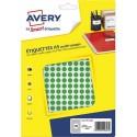 AVERY Sachet de 2940 pastilles Ø8 mm. Imprimables. Coloris vert.