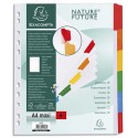 EXACOMPTA Jeu d'intercalaire 6 positions en carte blanche 170g, onglets Mylar®. Format A4+.