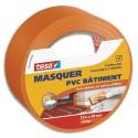 TESA Rouleau de masquage PVC orange forte adhésion format 33 m x 50 mm