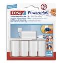 TESA Boîte de 5 crochets Powerstrips repositionnable spécial fixations câbles+ 6 languettes Powerstrips