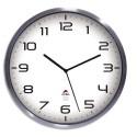 ALBA Horloge murale Horextrarc élégante haute gamme inox à pile 1AA non fournie - D35,5 cm, P4,18 cm gris