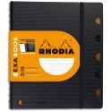 RHODIA Cahier rechargeable EXABOOK spirale 160 pages 90g 5x5 16x21cm Couverture polypro noire