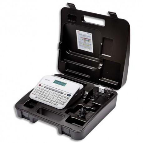BROTHER Etiqueteuse bureautique professionnelle PT-D400VP 18mm, coloris blanc