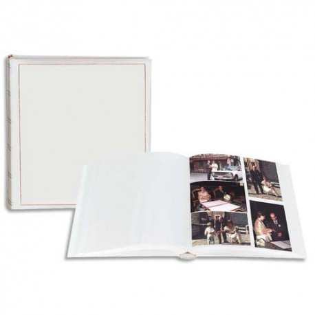 BREPOLS Album photo PARNER 29x32cm. 100 pages. Feuillets blancs. Couverture blanc