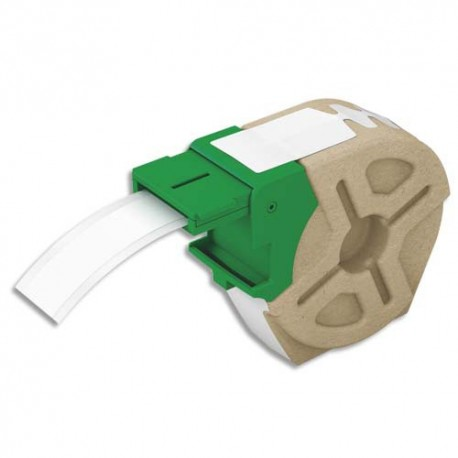 LEITZ 70100001 - Cartouche ruban d'étiquettes continues en papier adhésif permanent 19mmx22m Blanc 70100001