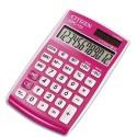 Calculatrice de poche 12 chiffres Citizen CPC112 laquée rose CPC112PKWB