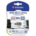 VERBATIM Clé USB 3.0 Métal OTG Store 'n' Go Micro Drive 32Go 49826  + redevance